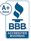 A+ rating by the Better Business Bureau