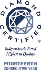 Diamond Certified, Fourteenth Consecutive Year.
